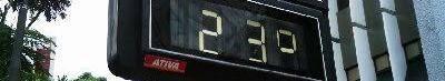 Temperatura no Rio de 23º em dezembro: já pensou se, além de tudo, ainda estivesse fazendo aquele calorão? Os termômetros estão bem parceiros!