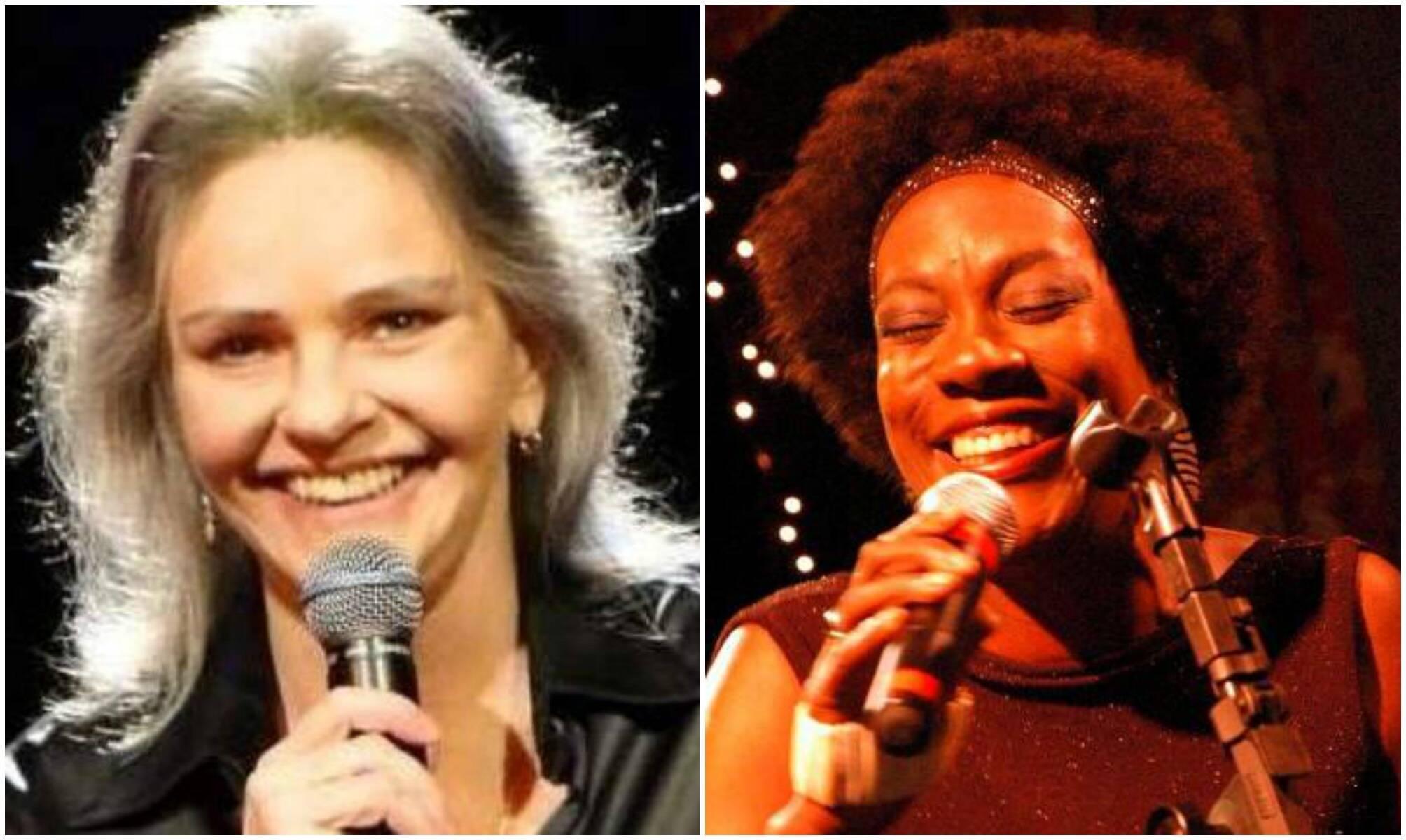 Ângela Rô Rô e Leila Maria: cantoras vão produzir um show com samba e jazz / Fotos: divulgação