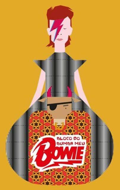 A arte do Bumba meu Bowie, da designer Cecília Torres: bloco pernambucano estreia neste carnaval