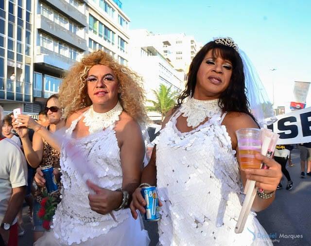Banda de Ipanema: muitos turistas seguiram os desfile / Fotos: Daniel Marques
