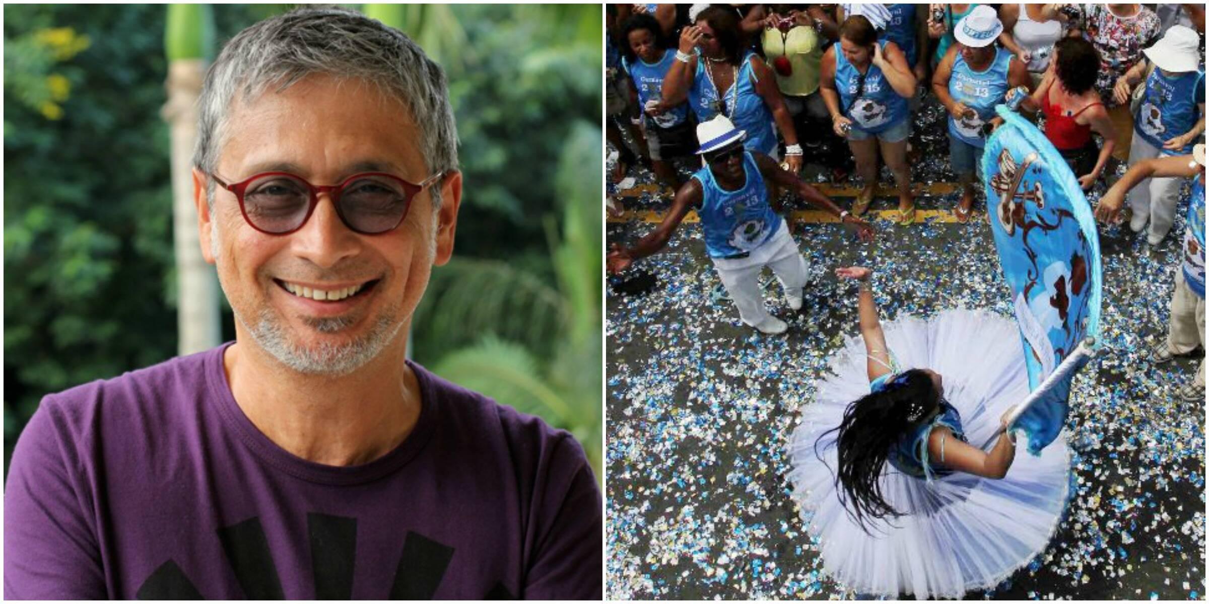 Zé Renato, à esquerda, e a evolução da porta-bandeira: juntos, neste domingo, em Oswaldo Cruz, na Zona Norte carioca / Fotos: divulgação