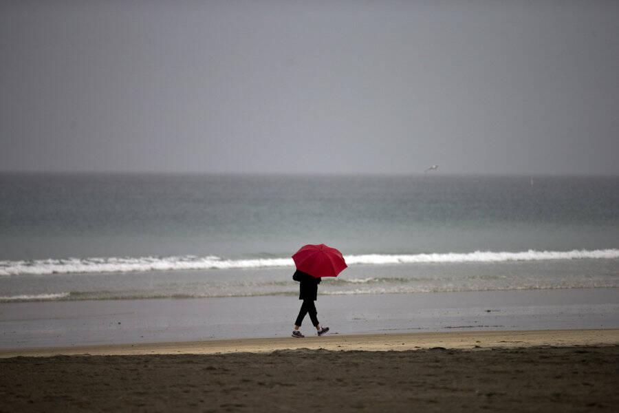Verão: no Rio, quando cai uma gota de chuva, a cariocada se veste pra inverno. Esta semana não foi diferente / Foto: Pinterest
