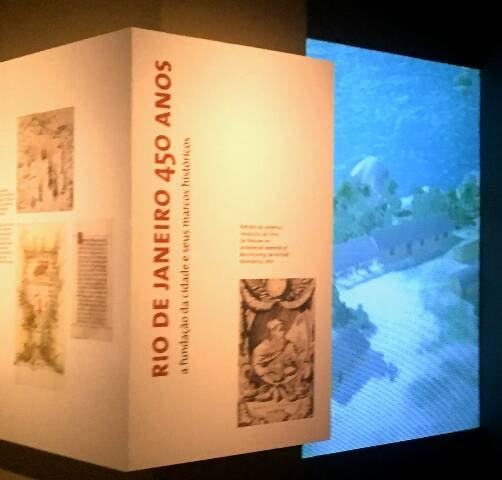 """A exposição Rio de Janeiro 450, a fundação da cidade e seus marcos históricos"""" vai continuar até o fim de janeiro no Museu Histórico Nacional / Foto: divulgação"""