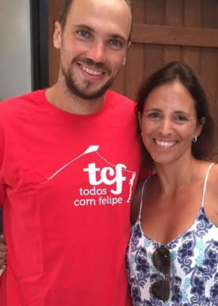 Bruno Soares e Renata Cordeiro Guerra: o tenista vai ajudá-la na organização de evento beneficente / Foto: divulgação