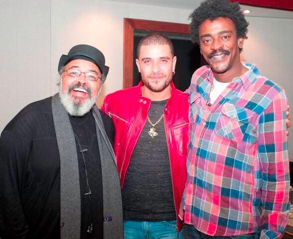 Jorge Aragão, Diogo Nogueira e Seu Jorge, em encontro acontecido há cinco anos / Foto: divulgação