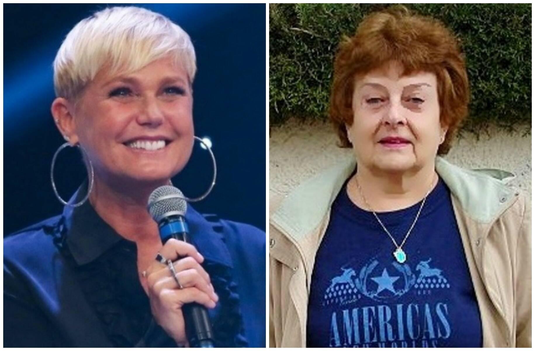 Xuxa e Therezinha Monte, ex-presidente da Unidos do Cabuçu: apresentadora se esqueceu de enredo em sua homenagem / Fotos: reprodução da internet