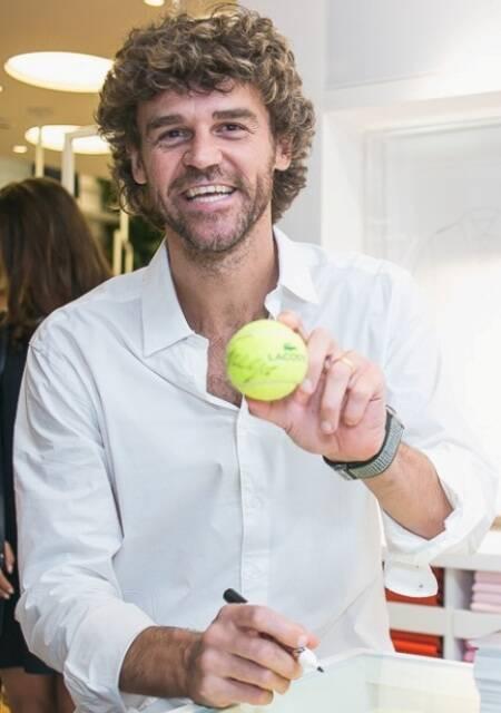 Gustavo Kuerten: tenista brasileiro recebe homenagem na abertura do Rio Open, no Jockey Club / Foto: Bruno Ryfer