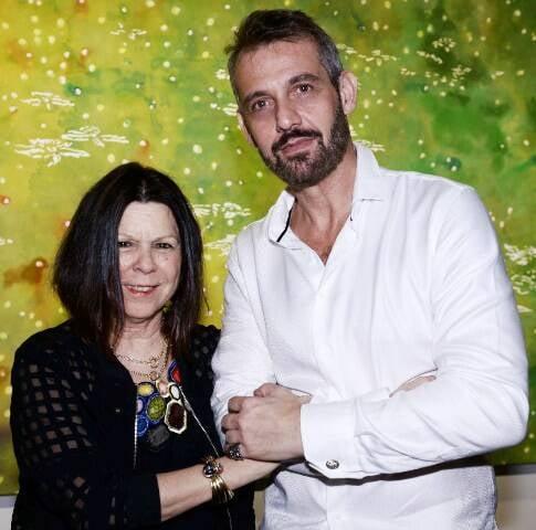Vanda Klabin e Walter Goldfarb: a curadora e o artista guiam os visitantes, neste sábado, na exposição do CCC / Foto: Paulo Jabur