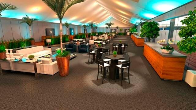 O Corcovado Club, espaço de encontro para os patrocinadores do Rio Open e seus convidados / Foto: divulgação