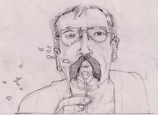 """Paulo Leminski: a imagem do poeta desenhada pelo artista Tiago Malagodi é inspirada no poema  """"Confira, tudo o que respira, conspira"""" e nas gravuras japonesas / Foto: divulgação"""