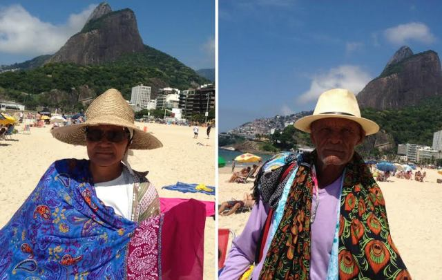 Dona Dora e Seu Joventino: vendedores nas praias nunca passaram por crise igual / Fotos: Lu Lacerda