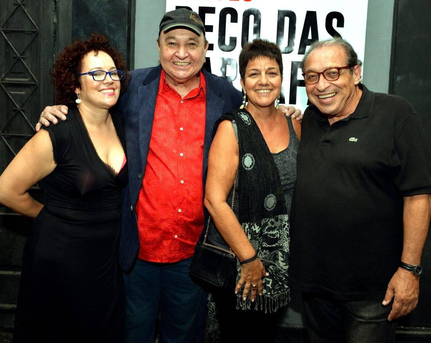 Ivone Belém, João Donato, Heloisa Seixas e Ruy Castro no Beco das Garrafs