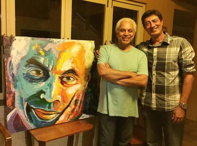 Fabio Nery já retratou Paulinho da Viola, entre outros artistas, com sua técnica de realismo espontâneo / Foto: divulgação