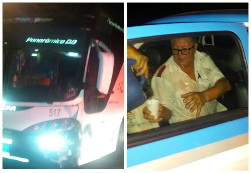Jardim Pernambuco: ônibus uruguaio adentra o condomínio fechado, batendo em vários carros / Fotos: Lu Lacerda