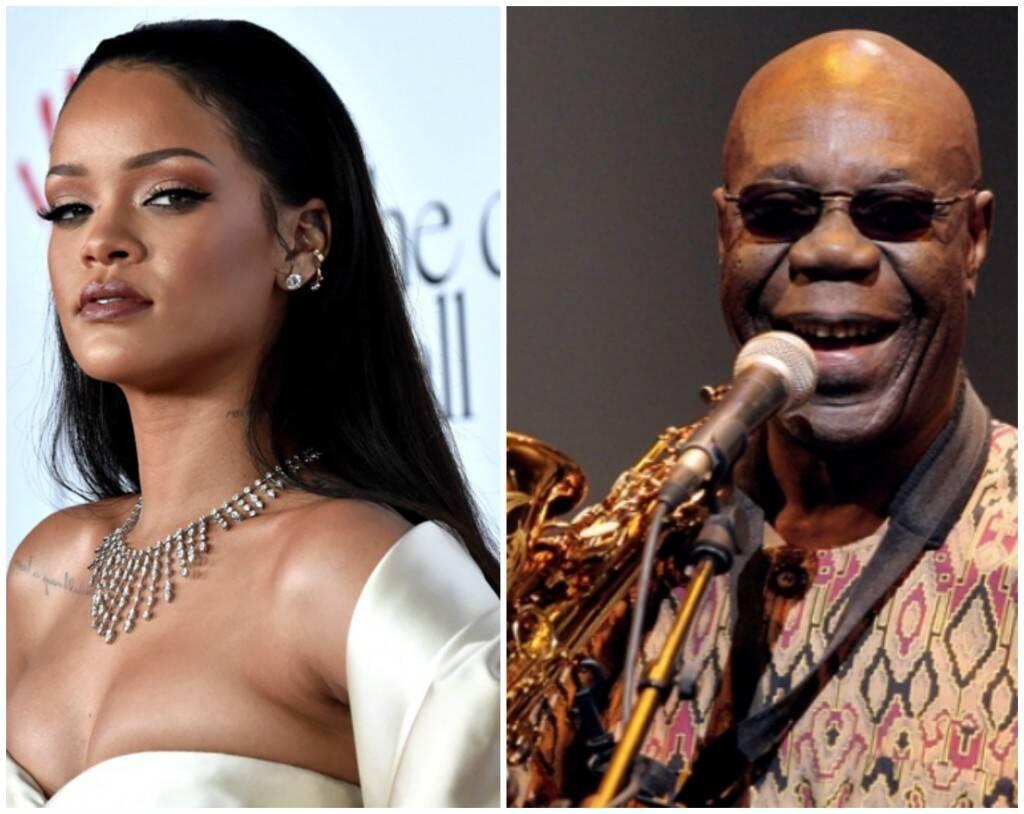 """Rihanna incluiu um trecho de Sou Makossa, de Manu Dibango, em """"Don't stop the music' / Fotos: reprodução da internet"""