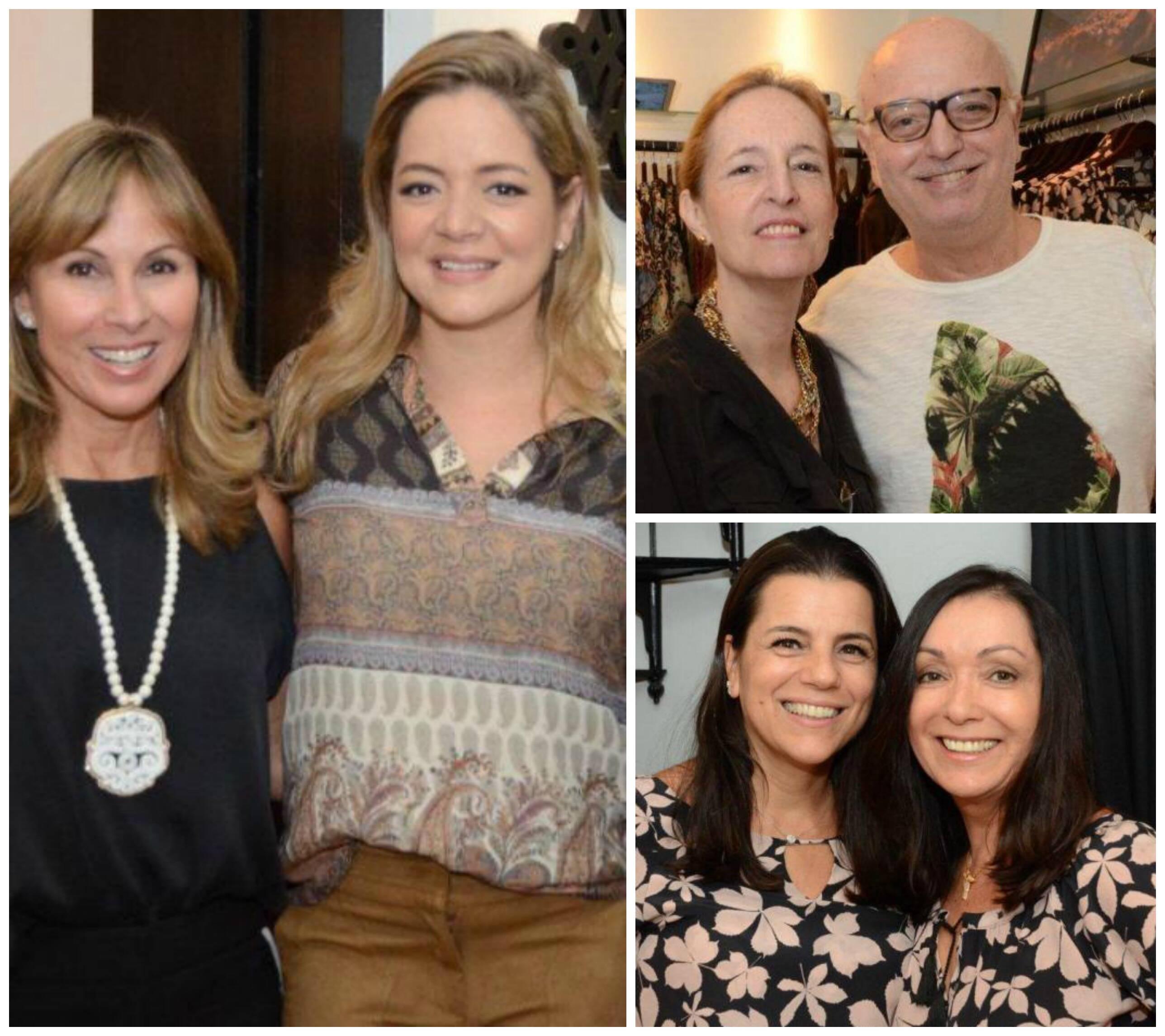 No sentido horário: Andrea Rudge e Bianca Gibbon; Aby Penteado e Alberto Sabino; Tereza Gibbon e Vera Cougo