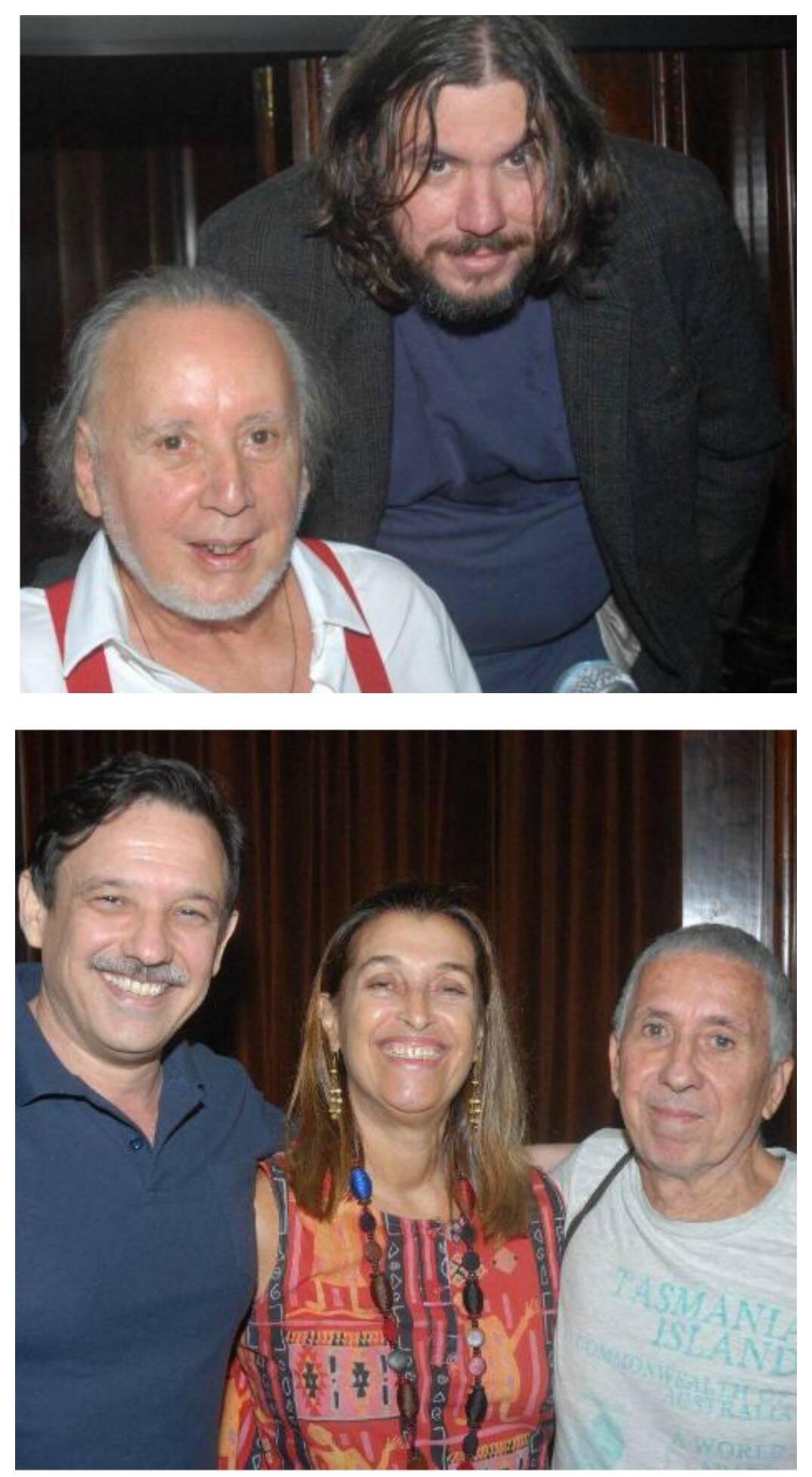 No alto os palestrantes Guilherme Vaz e J.-P Caron; nesta foto: o palestrante Franz Manata com Vera Terra e Paulo Martins/ Fotos: Marco Rodrigues