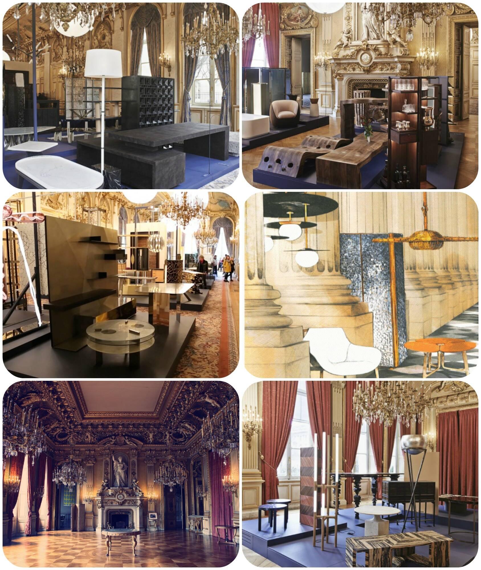 Exposição da AD Collections conta com os objetos mais elegantes, no Hotel de la Marine, na Place de la Concorde, em Paris.