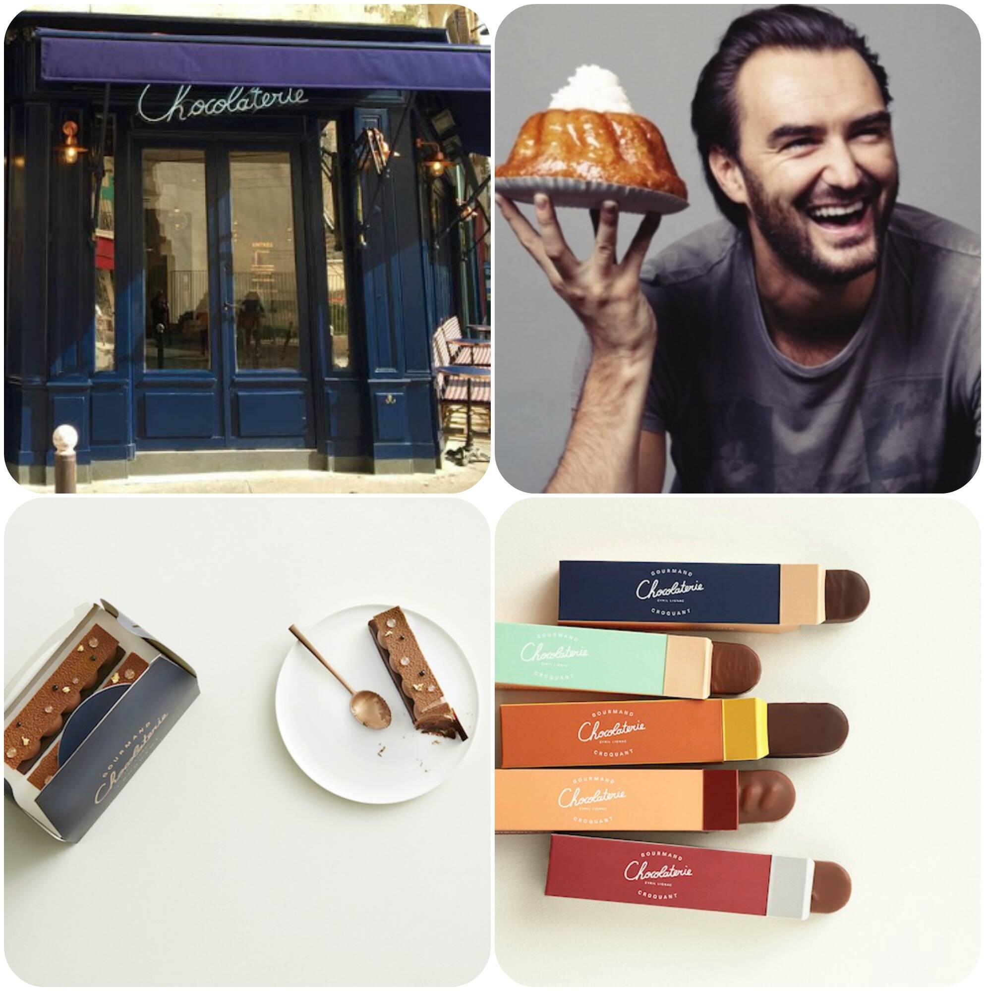 Os chefs confeiteiros Cyril Lignac e Benoit Couvrand inauguram sua nova loja de chocolates, na Rua Chanzy