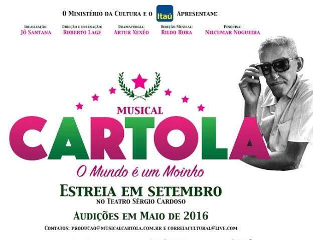 Cartaz do musical, com estreia programada para setembro: elenco vai ser, em sua maioria, negro / Foto: divulgação