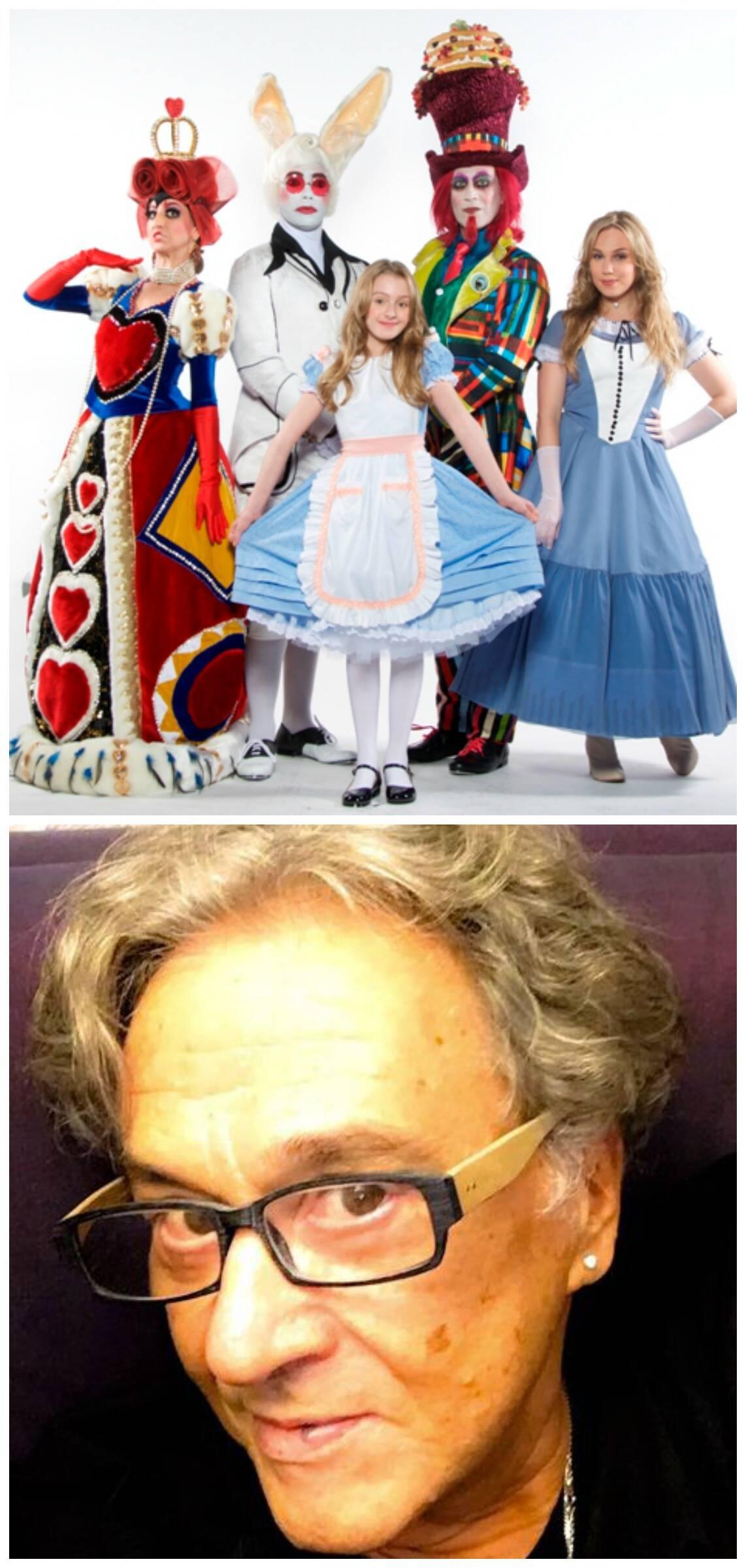 No alto, o elenco do musical Alice, em cartaz no Teatro Bradesco, na Barra, e, acima, seu diretor, o ex-punk Billy Bond / Fotos: divulgação