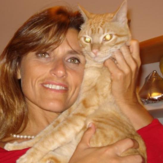 Andrea Falcão: sofrendo pelo gato, Toni, depois da eutanásia