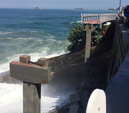 Acidente:  desabamento de um trecho de mais de 50  metros da ciclovia Tim Maia deixa cariocas chocados / Foto: Patricia Mayer