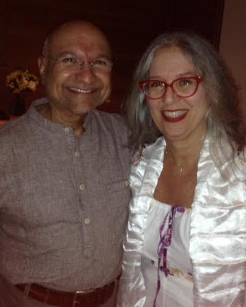 Segyu Rinpoche e Claudia Levinsohn Fontoura: o monge e a empresária na abertura de nova sala de Meditação, na Lopes Quintas