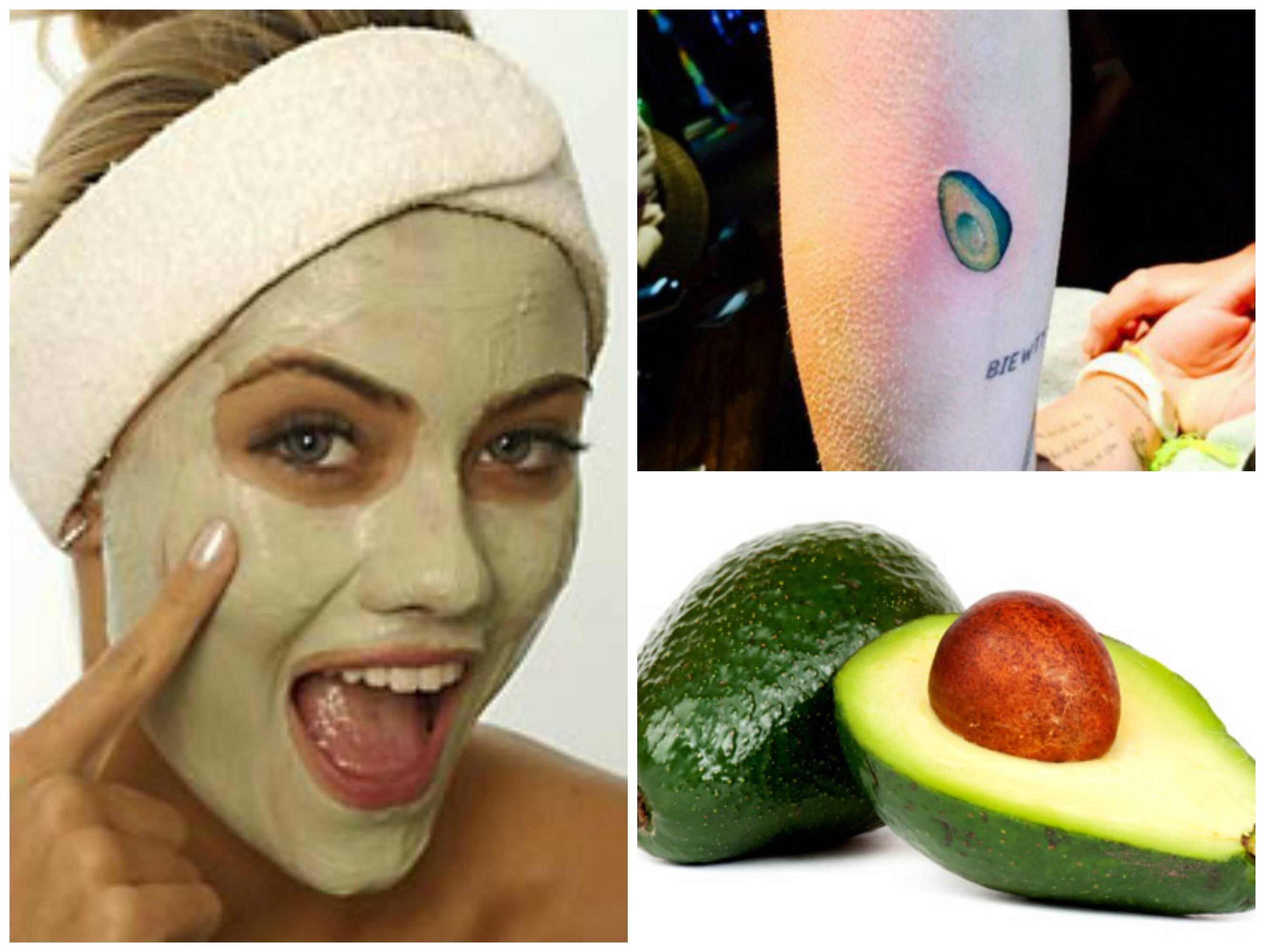 """A segunda foto é a tatuagem da cantora Miley Cyrus, feita no dia da Independência dos EUA no ano passado, e, nas redes sociais, ela declarou: """"querido abacate, eu te amo muito""""/ Fotos: Divulgação"""