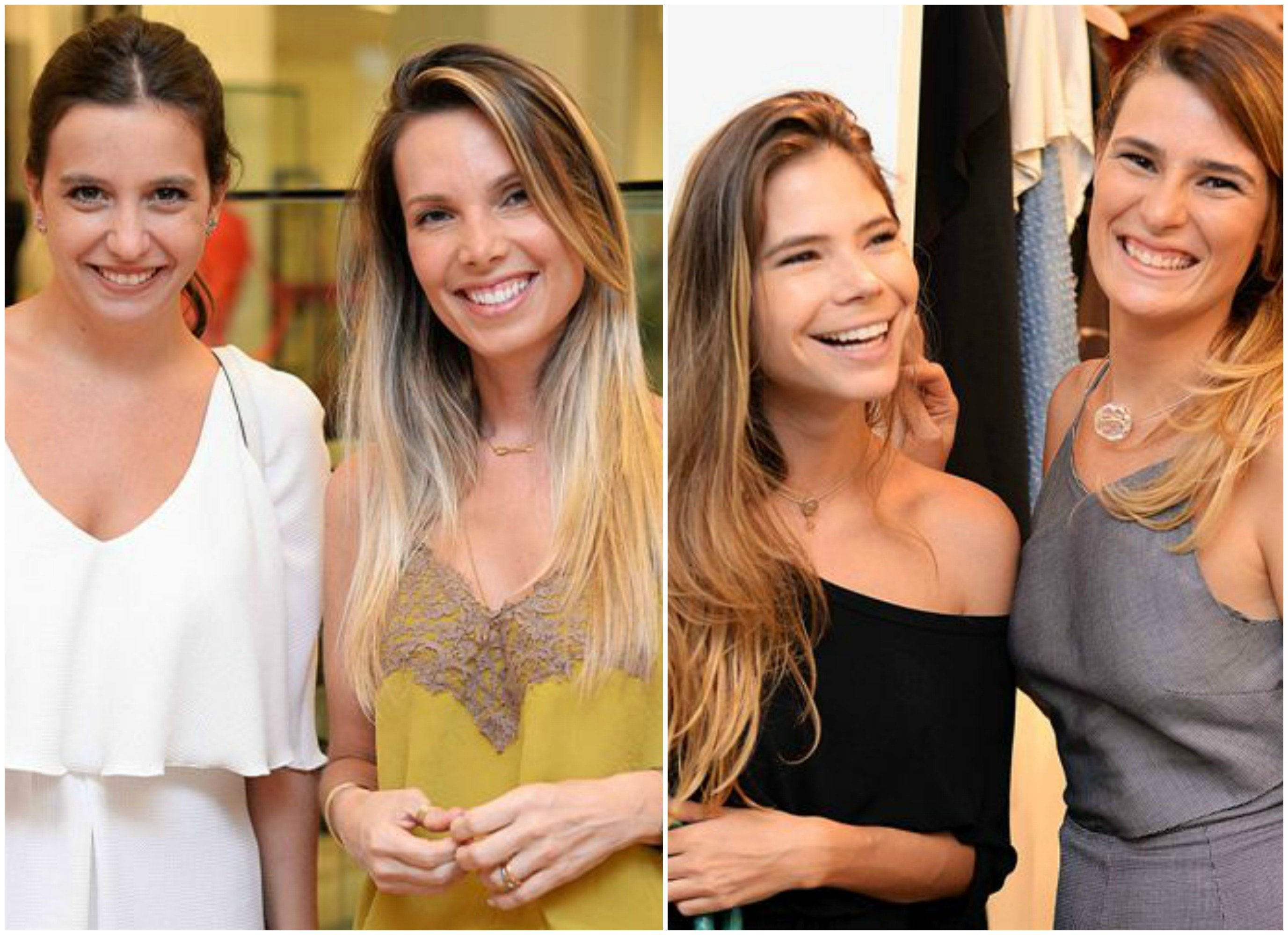 No alto, Zizi Ribeiro e Henriete Moreira; ao lado, Bianca Adler e Ana Luiza Tiago; acima, Rafaela Prado e Renata Morett; à direita, Glenda Ritterling e Renata Lamarca / Fotos: Ari Kaye