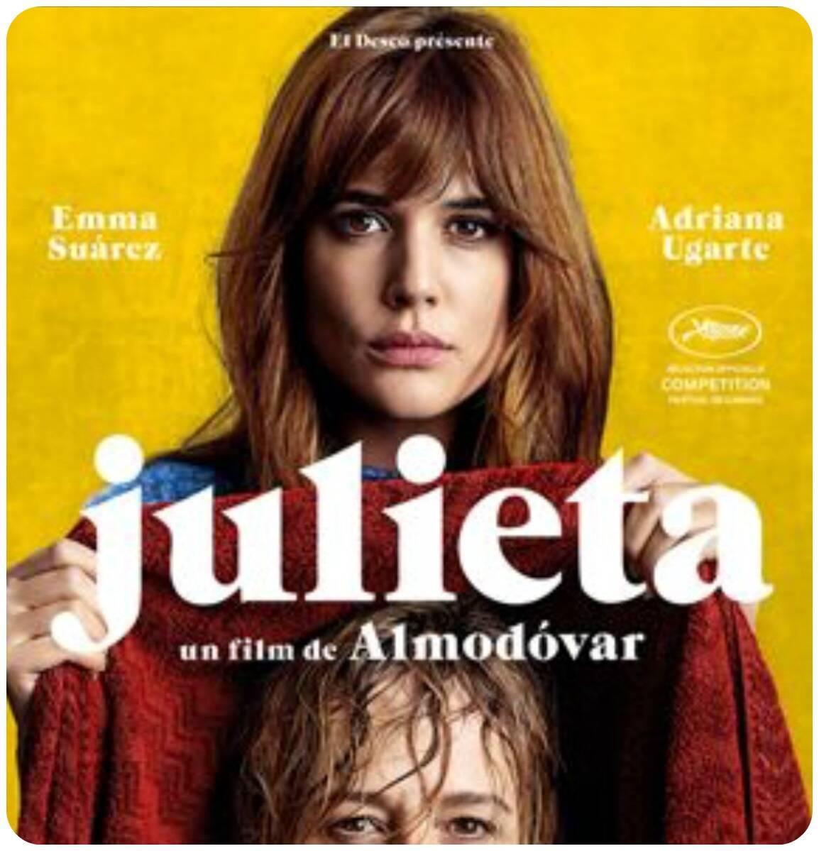 """Cartaz do filme """"Julieta"""", do diretor espanhol Almodovar"""