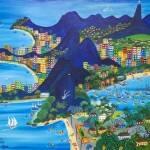 Como é belo o Meu Rio de Janeiro, Lia Mittarakis - Óleo sobre tela e eucatex, 81 x 100 cm , 1985
