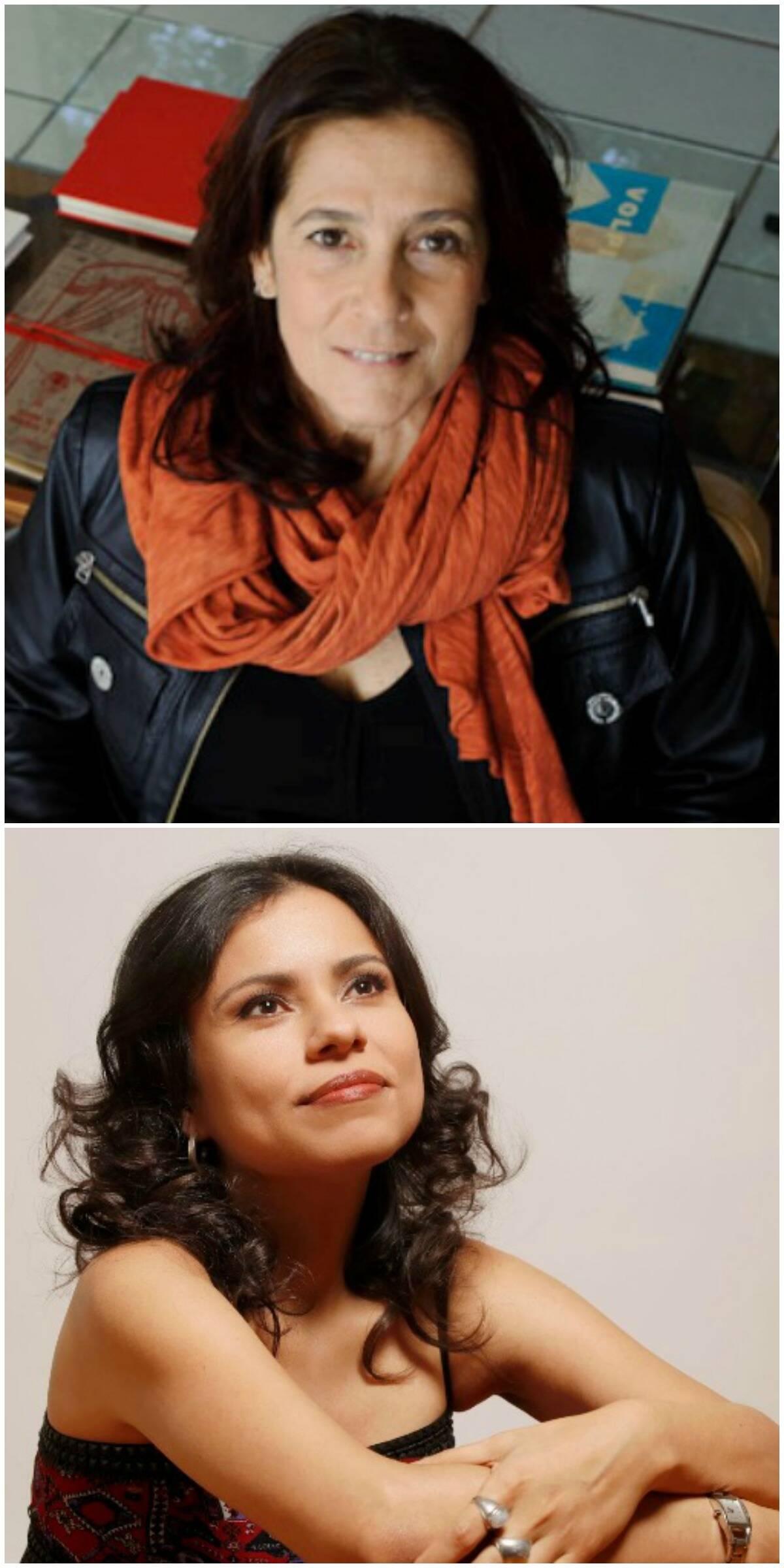 No alto, a astróloga Claudia Lisboa; acima, a escritora Carola Saavedra: cursos bacanas na programação do POP / Fotos: divulgação