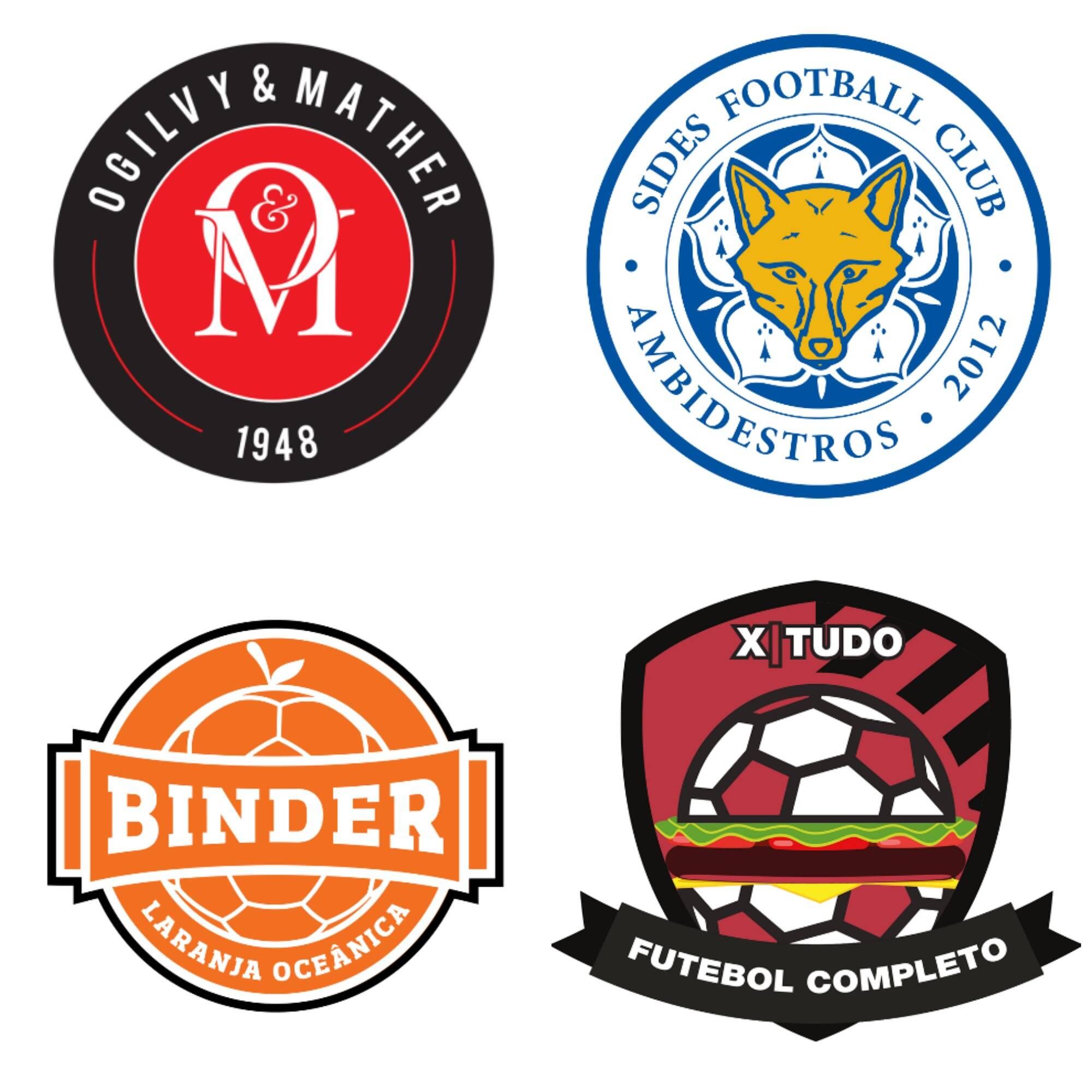 Os publicitários cariocas capricharam na criação de escudos para seus times de futebol / Fotos: divulgação