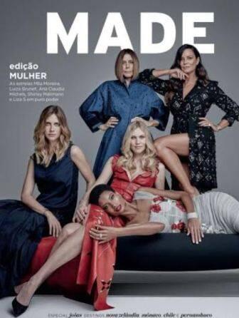 A revista MADE reuniu na capa grandes modelos da moda brasileira de várias gerações / Foto: divulgação