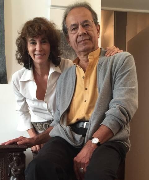 Rosana Lanzelotte, criadora do Circuito BNDES de Musica Brasilis e Jacques Leenhardt, o palestrante desta terça-feira / Foto: divulgação