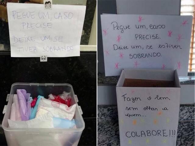 A iniciativa de repor absorventes começou em Pernambuco, com a aluna de design Manu Marinho, da UFPE / Foto: Manu Marinho