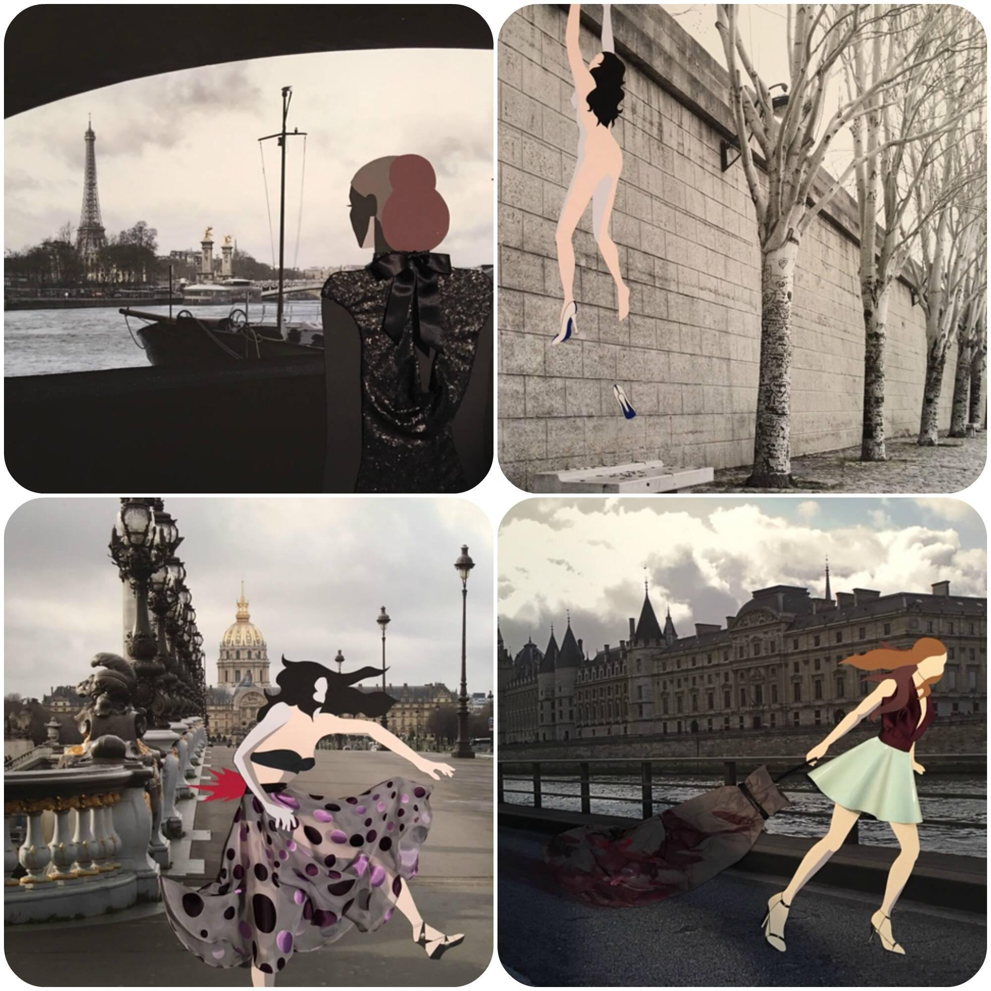 Fotografia, colagem e moda: ideia genial do artista brasileiro Ricardo Fernandes em parceria com o Centre Culturel Cloitre des Bilettes, em Paris