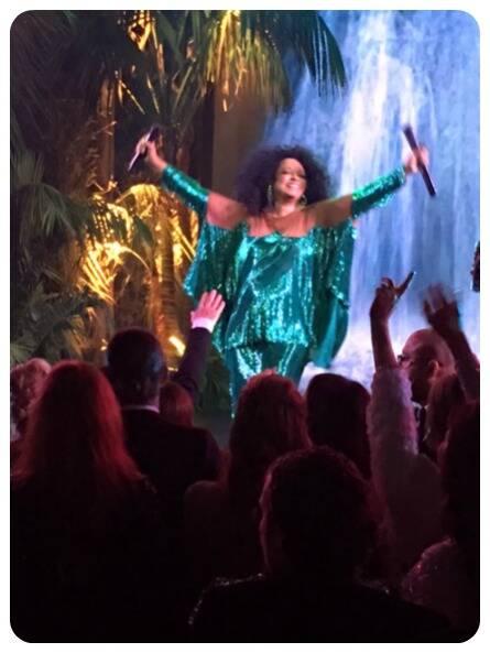 Momento incrível com o show da poderosa Diana Ross