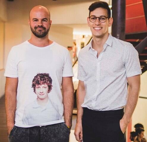 André Carvalhal e Luiz Wachelke, coordenador do curso de design de moda do IED: desfile confirmado  para esta quarta, no MAM / Foto: Derek Mangabeira