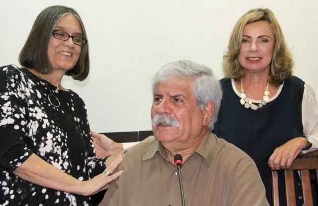 Joyce Moreno, Dori Caymmi e Rosa Maria Araújo, no depoimento do baiano ao MIS / Foto: Caru Ribeiro