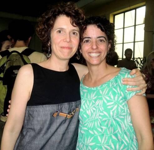 As filósofoas Emmanuelle Jouët-Pastré  e Luísa Buarque, no congresso no IFCS, no Centro do Rio / Foto: Waldir Leite