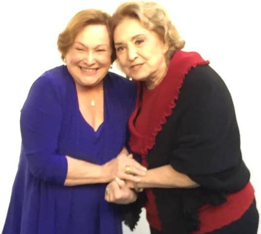 Nicette Bruno e a Eva Wilma: juntas, pela primeira vez, no teatro / Foto: reprodução