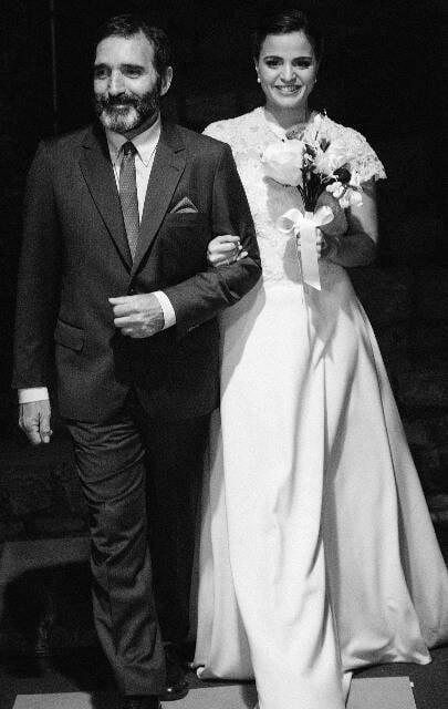 Os noivos      no alto: acima, Edgard Duvivier e a noiva