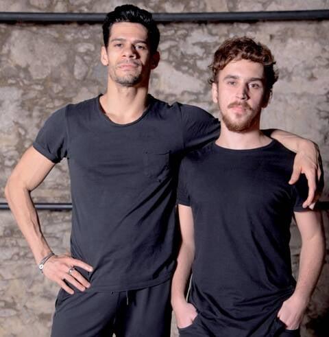 """Thiago Soares e Danilo D'Alma: parceria no espetáculo """"Roots"""", até domingo no Oi Casa Grande / Foto: Carlos Galvão"""