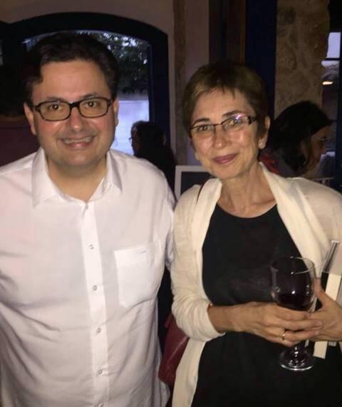 Antonio Campos e Pilar Del Rio: o curador e a viúva de Saramago na FLIP, em Paraty