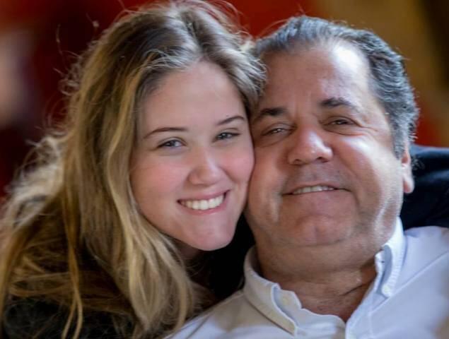 Maria Eduarda e o pai, Catito Peres: o empresário comemorou seu aniversário em      / Foto: divulgação