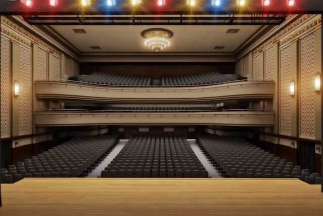 Computação gráfica de como vai ficar o Teatro Riachuelo, que abre em agosto, na Cinelândia / Fotos: divulgação