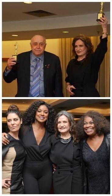 No alto, Mauro Mendonça e Rosamaria Murtinho; acima, Fernanda Abreu, Cris Vianna, Rosamaria Murtinho e Zezé Motta/ Fotos: Ramirez Medeiros