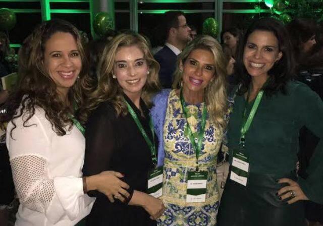 """Karla Assed, Marcia Linhares, Shirlei Borelli e Roberta Bibas no Hotel Hyatt, participando do """"Toxin Special Edition"""""""